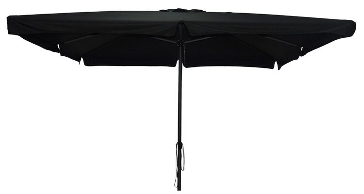 sort firkantet parasol