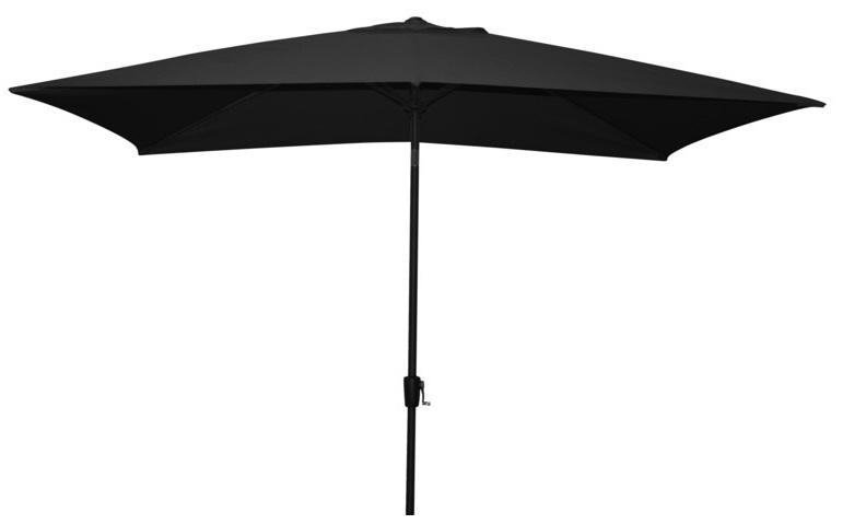 sort parasol med tilt