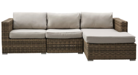 loungesæt med chaiselong