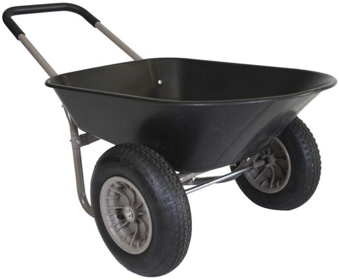 sort tohjulet trillebør