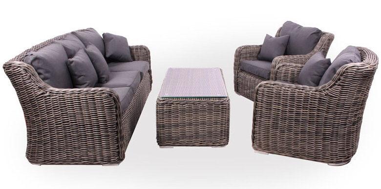 billigt polyrattan loungesæt